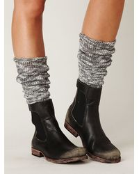 Free People   Gray Heather Marl Slouch Sock   Lyst