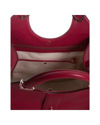 Gucci - Red Leather Stirrup Top Handle Bag - Lyst
