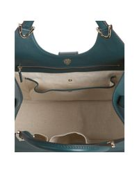 Gucci | Blue Teal Leather Stirrup Top Handle Bag | Lyst