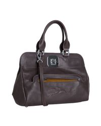 Longchamp - Brown Mocha Leather Gatsby Handbag - Lyst