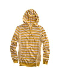 Madewell | Brown Striped Sweaterknit Hoodie | Lyst