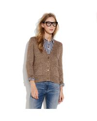 Madewell - Brown First Frost Sparkle Cardigan - Lyst