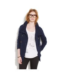 Madewell | Blue Windownook Sweatercoat | Lyst