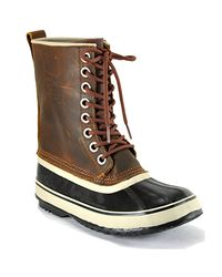 Sorel | Brown Premium - Tan Leather Waterproof Duck Boot | Lyst