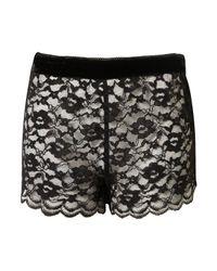 TOPSHOP | Black Lace Shorts | Lyst