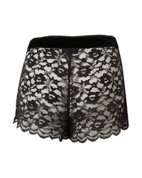TOPSHOP - Black Lace Shorts - Lyst