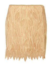 TOPSHOP | Natural Premium Vintage Embellished Skirt | Lyst