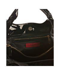 Valentino | Black Lacquered Canvas Lacca Nuage Bow Tote | Lyst