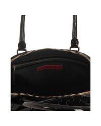 Valentino - Black Lacquered Canvas Petale Convertible Tote - Lyst