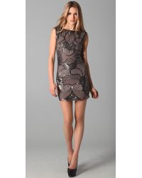 Alice + Olivia | Gray Radha Bead Sequin Dress | Lyst