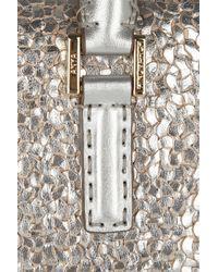 Anya Hindmarch - Metallic Mini Huxley Woven-leather Tote - Lyst
