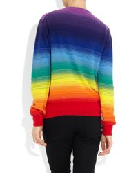 Christopher Kane - Multicolor Rainbow Cashmere Sweater - Lyst
