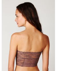 Free People - Brown Intimately Womens Cropped Lace Tube - Lyst