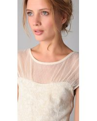 Free People - White Lurex Starlight Party Dress - Lyst