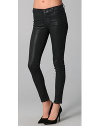 J Brand | Black Coated Super Skinny Jeans | Lyst
