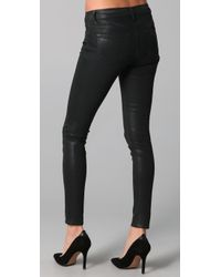 J Brand - Black Coated Super Skinny Jeans - Lyst