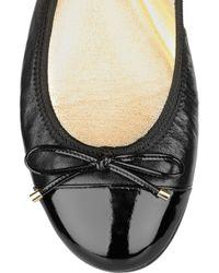 Jimmy Choo   Black Wallach Leather Ballerina Flats   Lyst