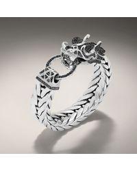 John Hardy | Black Dragon Head Bracelet On Extralarge Rectangular Chain | Lyst