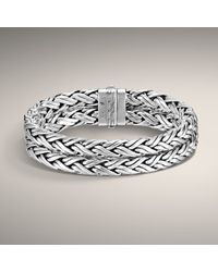 John Hardy | Metallic Medium Braided Double Chain Bracelet for Men | Lyst