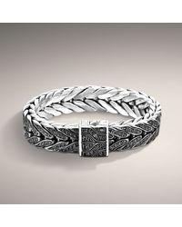John Hardy | Black Extralarge Studded Rectangular Bracelet for Men | Lyst