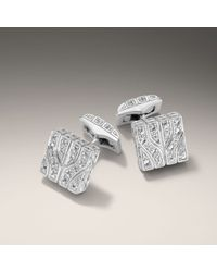 John Hardy | White Studded Square Cufflinks for Men | Lyst
