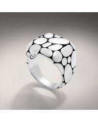 John Hardy - Metallic Rectangular Ring for Men - Lyst