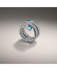 John Hardy - Blue Double Coil Ring - Lyst