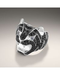 John Hardy | Black Tiger Head Ring for Men | Lyst