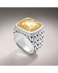 John Hardy | Metallic Palu Ring for Men | Lyst