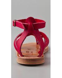 K. Jacques | Purple Epicure Crisscross Strap Sandals | Lyst
