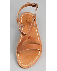 K. Jacques - Brown Flavia Flat Sandals - Lyst