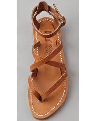 K. Jacques | Natural Epicure Crisscross Strap Sandals | Lyst
