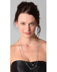 Kenneth Jay Lane - Metallic Large Cz Stations Necklace - Lyst