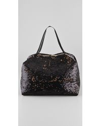 LeSportsac - Black Platinum Sherry Sequins Small Passerby Satchel - Lyst