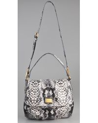 Marc By Marc Jacobs | Gray Supersonic Snake Printed Lil Ukita Satchel | Lyst