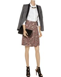 Marni - Pink Printed Crepe Skirt - Lyst