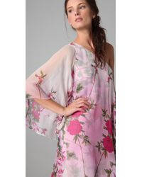 Notte by Marchesa | Pink One Shoulder Caftan | Lyst