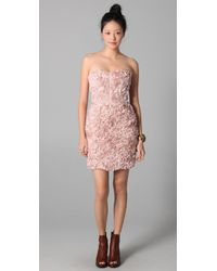 Obakki | Pink Strapless Dress | Lyst
