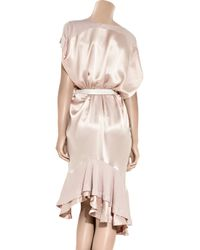 Preen Line - Pink Elsa Silk-satin and Jersey Dress - Lyst