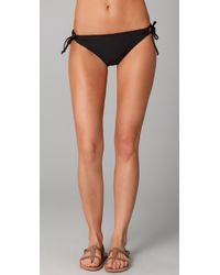 Splendid | Black Bayside Solid Tunnel Bikini Bottoms | Lyst