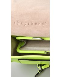 Theyskens' Theory | Natural Anen Mini Flap Bag | Lyst