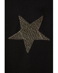 TOPSHOP - Black Star Embroidered Midi Dress - Lyst
