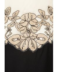 TOPSHOP | Black Vintage Lace Embroidered Dress | Lyst