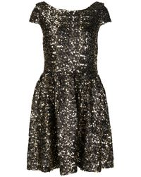 TOPSHOP | Black Gold Cluster Sequin Prom Dress By Dress Up | Lyst