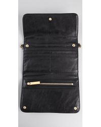 Tory Burch | Black Quilted Chain Wallet | Lyst