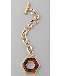 Tory Burch - Metallic Hexagon Toggle Bracelet - Lyst