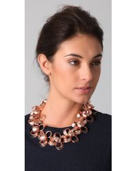 Tuleste - Pink Ribbon Necklace - Lyst
