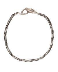 Ann Demeulemeester - Metallic Silver Bracelet - Lyst
