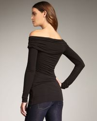 Bailey 44 - Black Ruched Jersey Top - Lyst