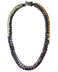 Bex Rox | Purple Lavender Crush Woven Necklace | Lyst